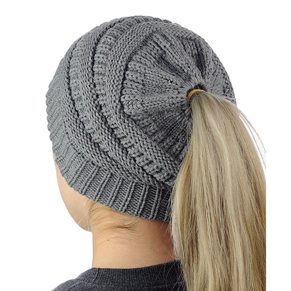 Awesome 2017 Beanietail Messy High Bun Ponytail Stretchy Knit Ponytail Knit Hat Of Top 46 Pictures Ponytail Knit Hat