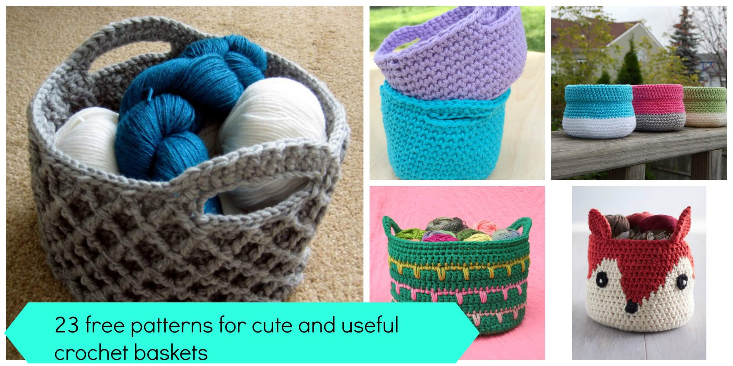 Awesome 23 Free &easy Crochet Baskets Patterns Easy Crochet Projects Of Awesome 49 Pics Easy Crochet Projects