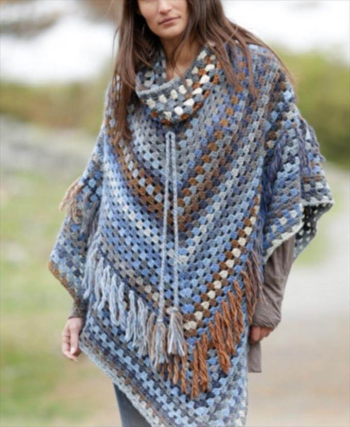 24 Adorable Summer Poncho Free Crochet Design