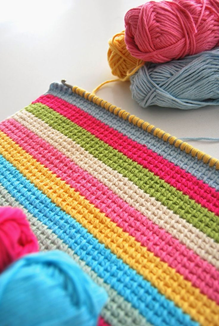 25 best ideas about Tunisian crochet blanket on Pinterest