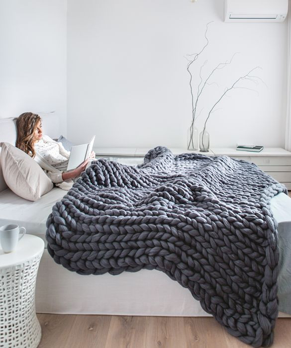 Awesome 25 Unique Chunky Knit Blankets Ideas On Pinterest Large Knit Blanket Diy Of Beautiful 44 Ideas Large Knit Blanket Diy