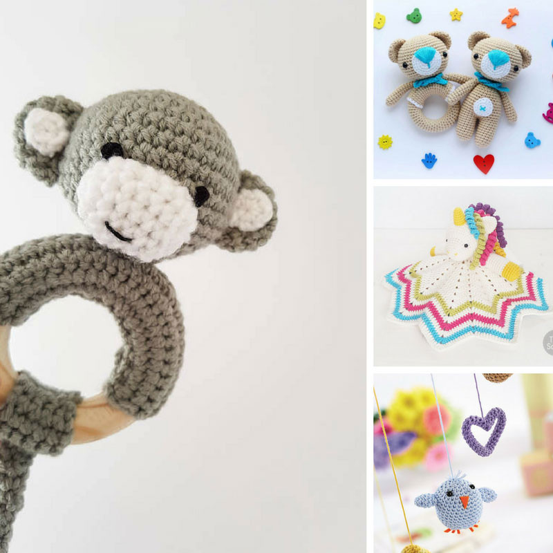 27 Crochet Baby Toys that Make Wonderful Baby Shower Gifts