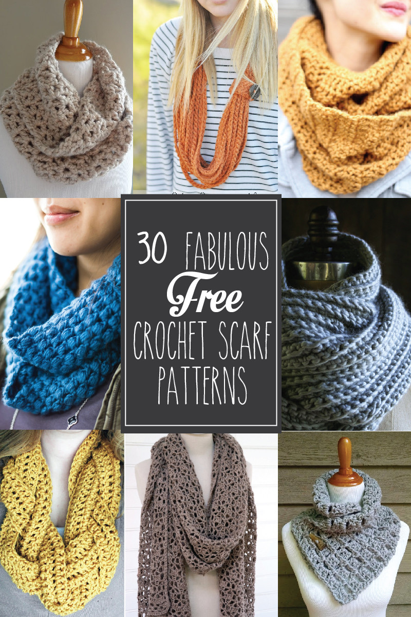 Awesome 30 Fabulous and Free Crochet Scarf Patterns Crochet Scarves Of Amazing 43 Photos Crochet Scarves