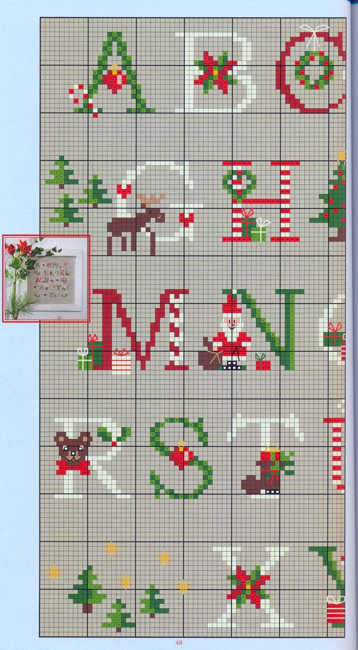 Awesome 312 Best Cross Stitch Alphabet Images On Pinterest Christmas Cross Stitch Patterns Of Charming 48 Pics Christmas Cross Stitch Patterns