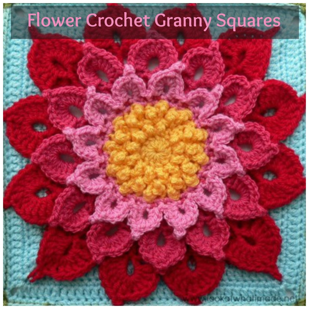 Awesome 34 Flower Crochet Granny Squares Crochet Flower Square Of Brilliant 47 Models Crochet Flower Square