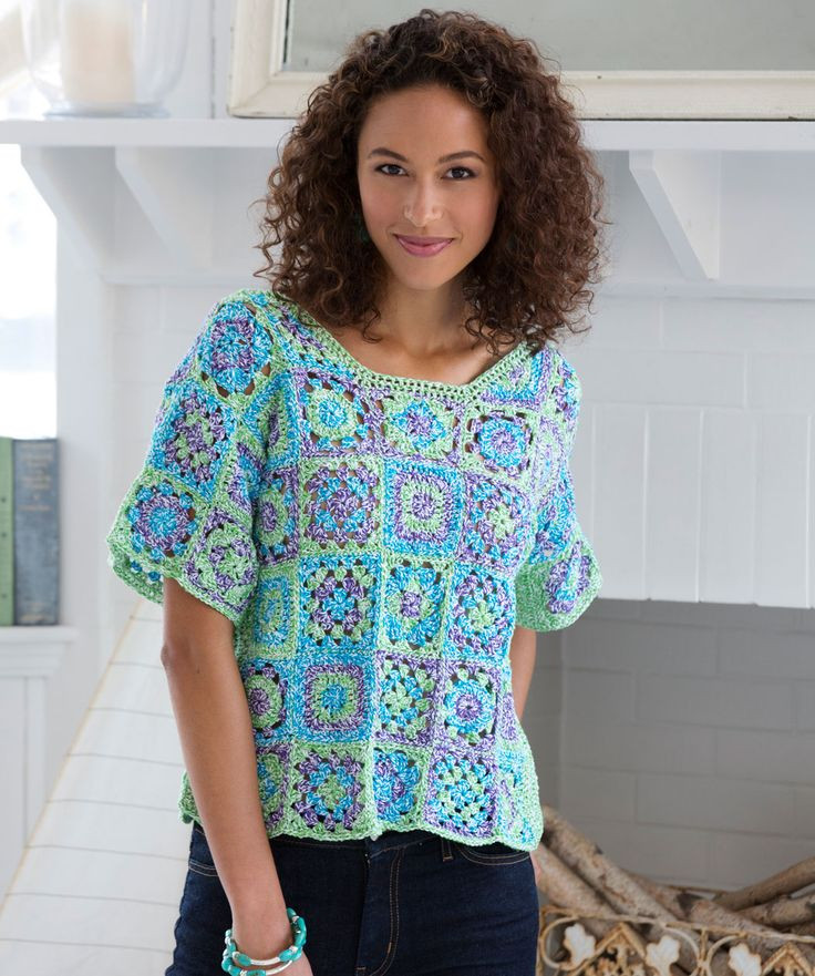 Awesome 376 Best Granny Square Clothing Images On Pinterest Crochet tops Patterns Of Innovative 49 Photos Crochet tops Patterns