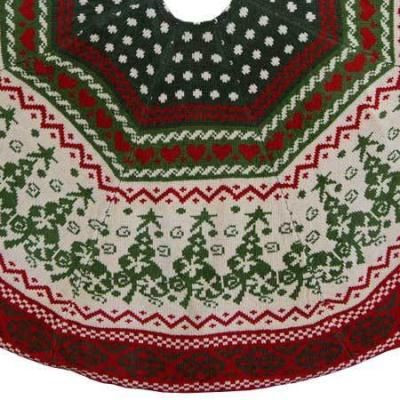 "Awesome 48"" Chenille Knit Christmas Tree Skirt Knit Tree Skirt Pattern Of Delightful 49 Images Knit Tree Skirt Pattern"