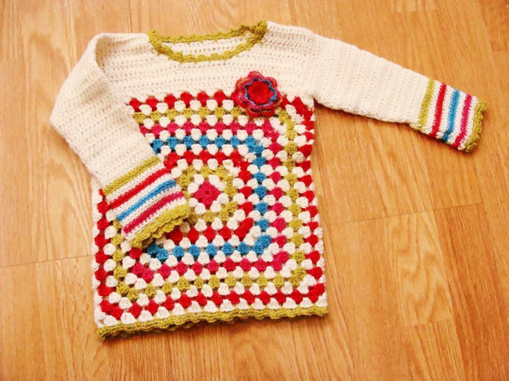 Awesome 5 Free Crochet Sweater Patterns for Beginners Granny Square Sweater Of Superb 45 Photos Granny Square Sweater