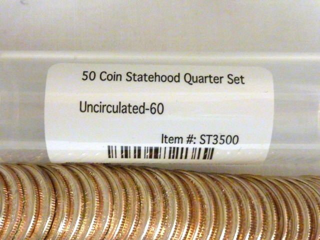 Awesome 50 Coin Uncirculated Statehood Quarter Set Mix Of P&d 50 State Quarter Collection Of Adorable 42 Pictures 50 State Quarter Collection