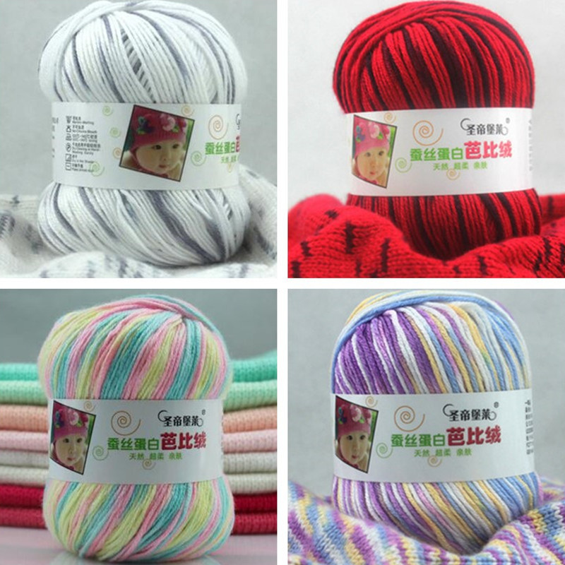 Awesome 50g Ball Creative Diy Milk Cotton Yarn Baby Wool Yarn for Hand Crochet Yarn Of Delightful 43 Models Hand Crochet Yarn