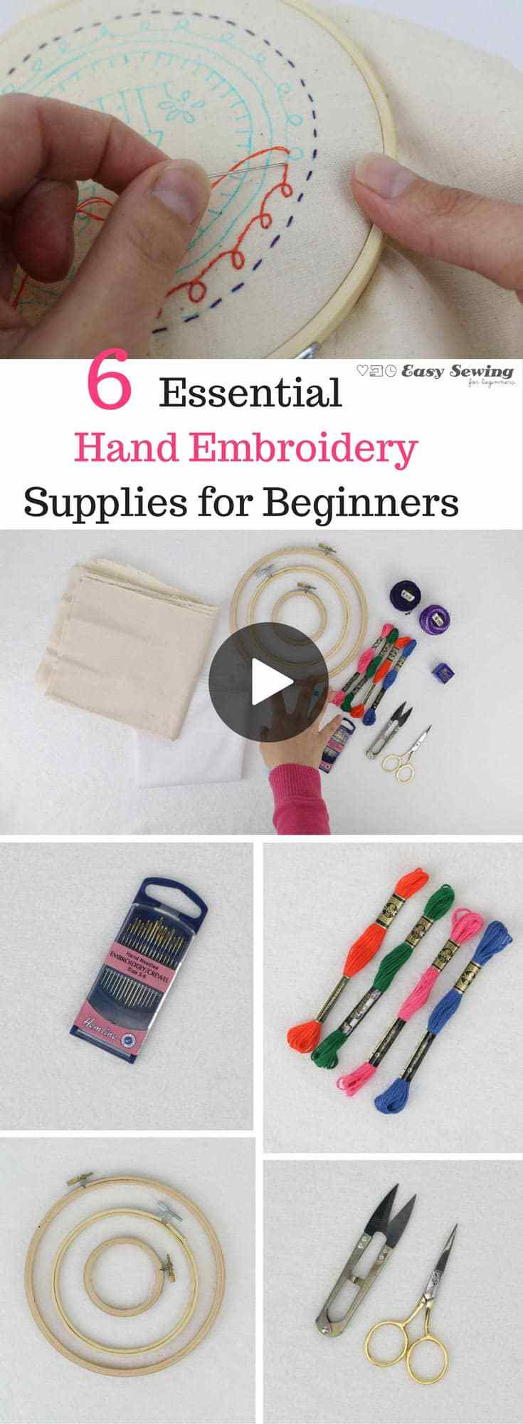Awesome 6 Essential Hand Embroidery Supplies for Beginners Hand Embroidery Kits Of Delightful 45 Photos Hand Embroidery Kits