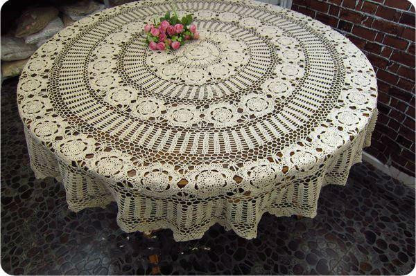 Awesome 63 Inch 160cm Round Beige Vintage Handmade Crocheted Crochet Tablecloth for Sale Of Delightful 42 Ideas Crochet Tablecloth for Sale