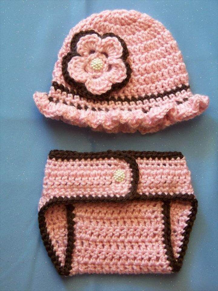 Awesome 65 Crochet Amazing Baby Diaper for Outfits Crochet Newborn Boy Hat Of Adorable 40 Ideas Crochet Newborn Boy Hat