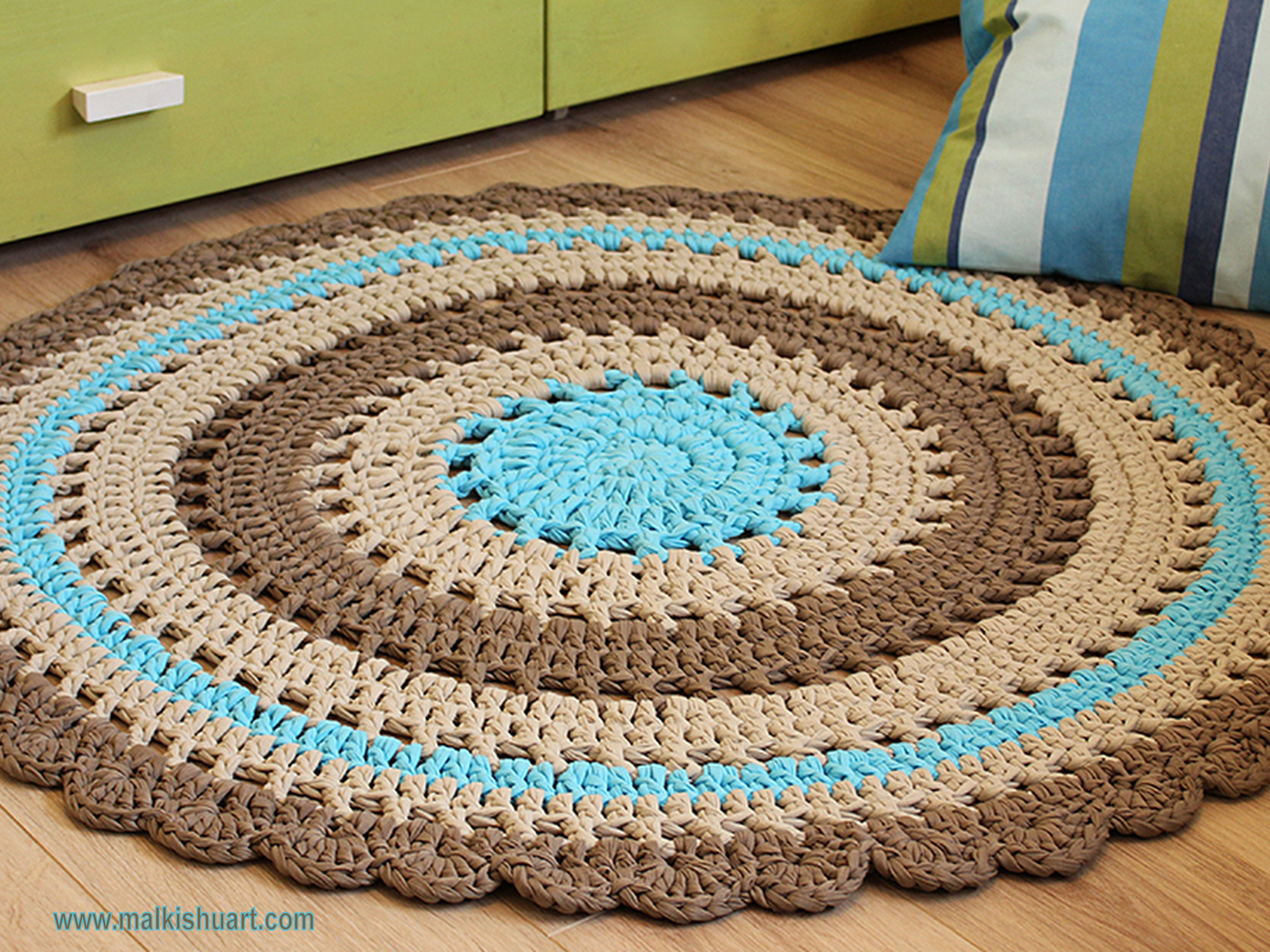 Awesome A Doily Rug that Was Made According to the Beautiful Pin Crochet Rug Yarn Of Fresh 45 Images Crochet Rug Yarn