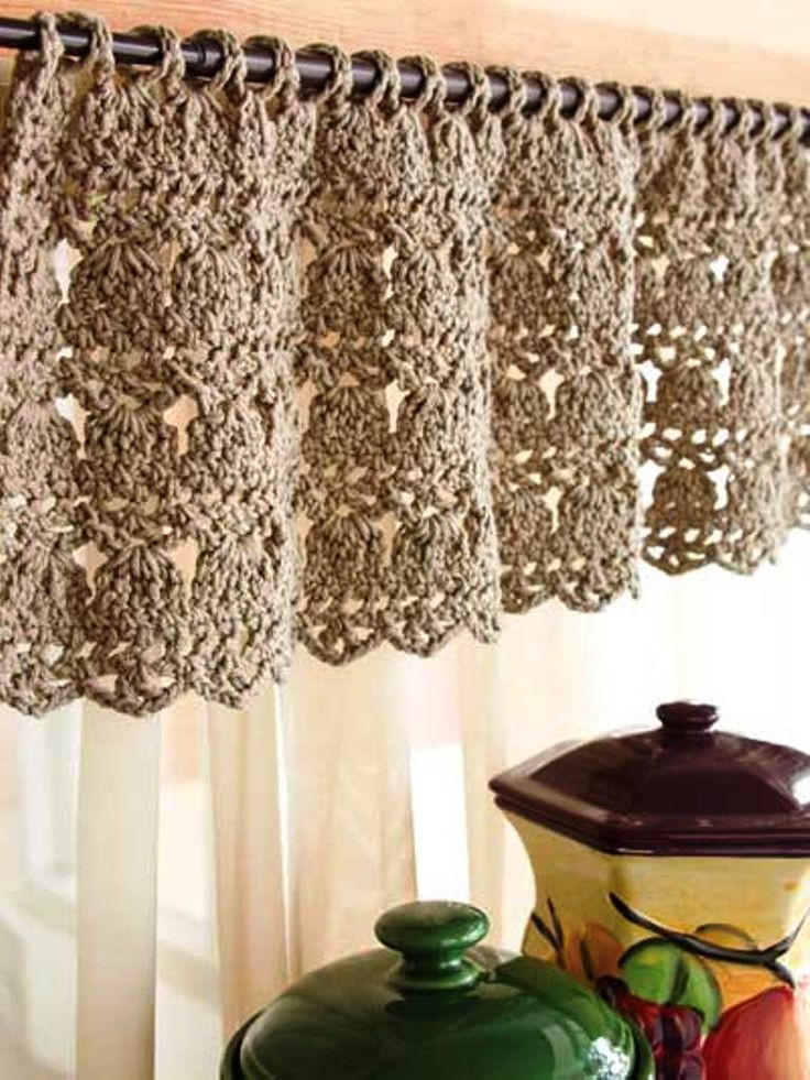Awesome A Lovely Crochet Curtain Tende Pinterest Crochet Curtains Of Marvelous 47 Pictures Crochet Curtains