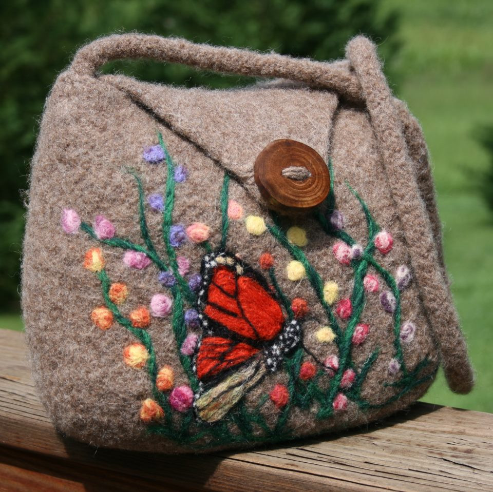 Awesome A Perfect Fall Purse – Knitted Fulled and Needle Felted Knitted Purse Of Amazing 41 Pics Knitted Purse