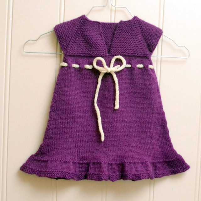 Agnes Baby Dress Knitted Pattern ⋆ Knitting Bee