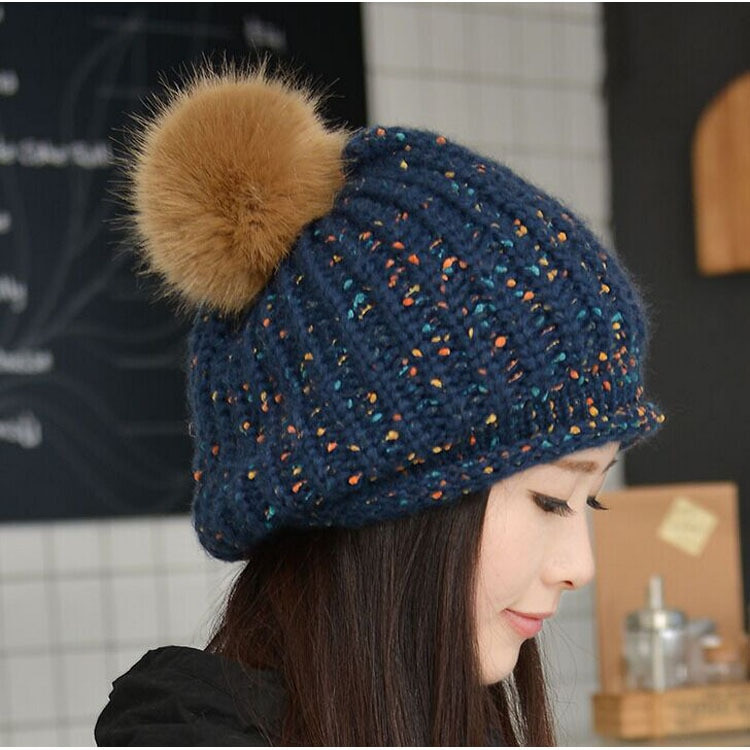 Awesome Aliexpress Buy Winter Beanies Knit Women S Hat Winter Knit Hats Of Charming 40 Photos Winter Knit Hats