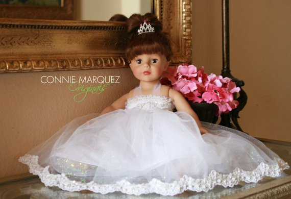 Awesome American Girl Princess Wedding 18 Inch Doll Dress Fits American Girl Doll Wedding Dress Of Beautiful American Girl Doll Wedding Dress Satin and Silver American Girl Doll Wedding Dress