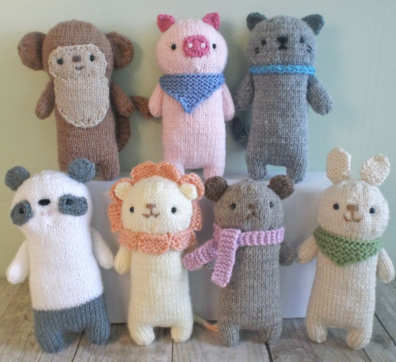 Awesome Amigurumi Knit Baby Animals Pattern Set Digital Download Knitted Animals Of Attractive 49 Pics Knitted Animals