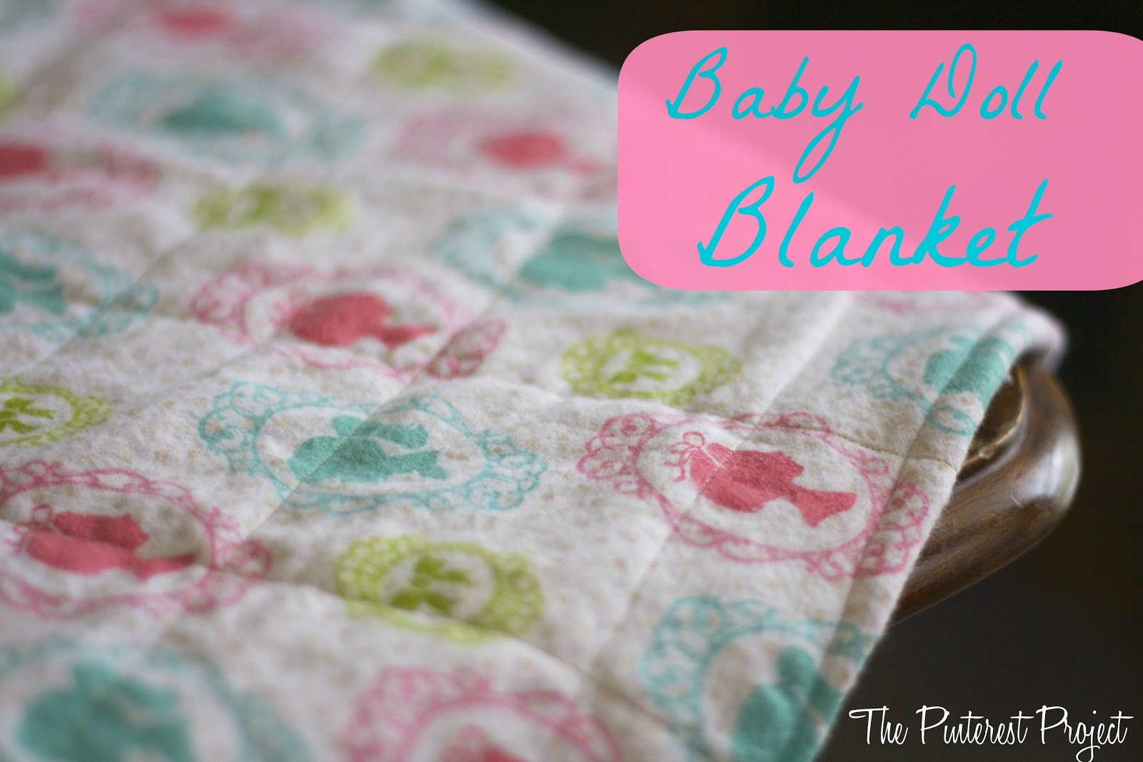 Awesome An Easy Baby or Doll Blanket Baby Doll Blankets Of Adorable 37 Images Baby Doll Blankets