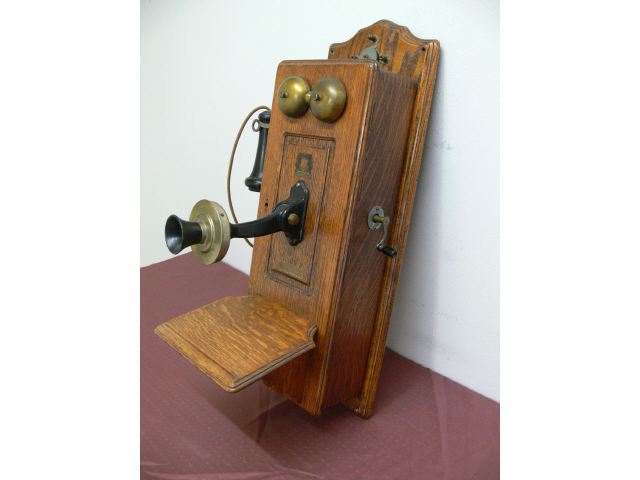 "Antique 1906 Swedish American ""Crank"" Wall Phone"