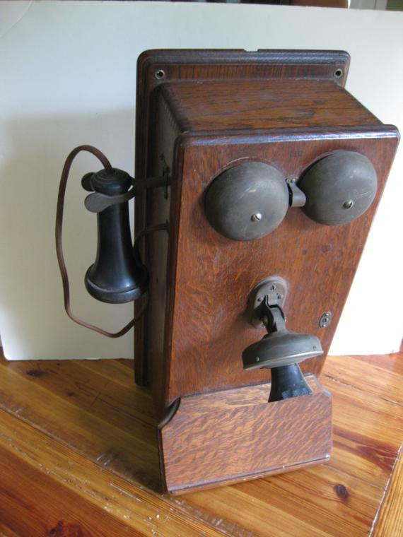 Antique Wall Telephone Western Electric crank wall phone