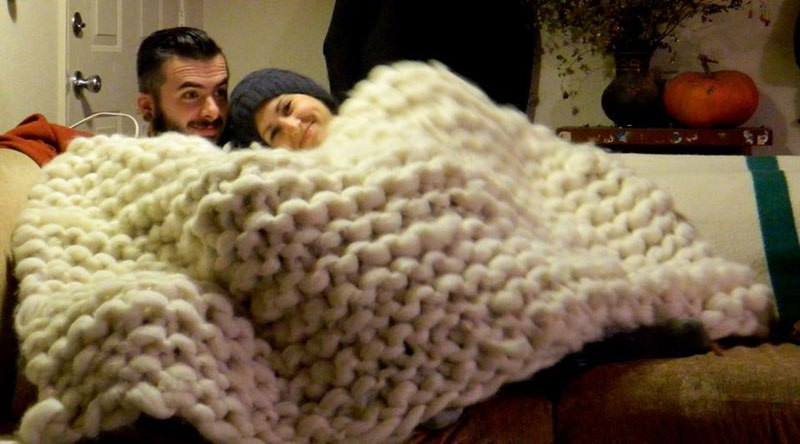 Awesome Artist Uses Pvc Pipes to Knit A Giant Blanket Twistedsifter Huge Yarn Blanket Of Gorgeous 49 Ideas Huge Yarn Blanket