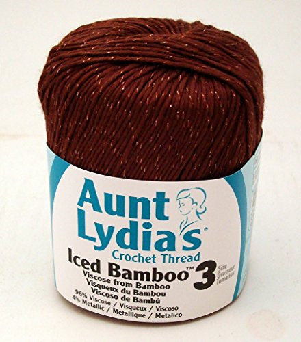 Aunt Lydia Crochet Thread Iced Bamboo Chocolate Ice size 3