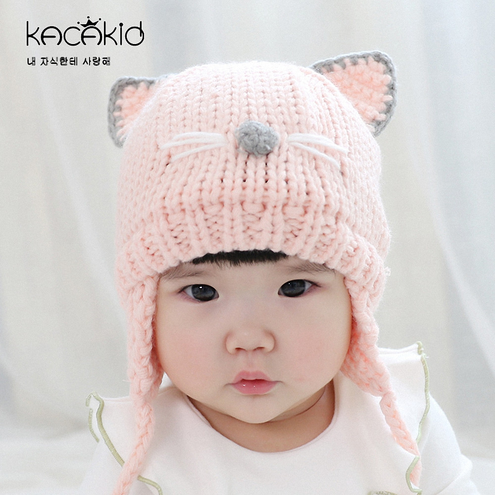 Awesome Autumn Winter Baby Boys Girls Knitted Hat Cute Cat Bear Knitted Baby Beanies Of Charming 44 Models Knitted Baby Beanies