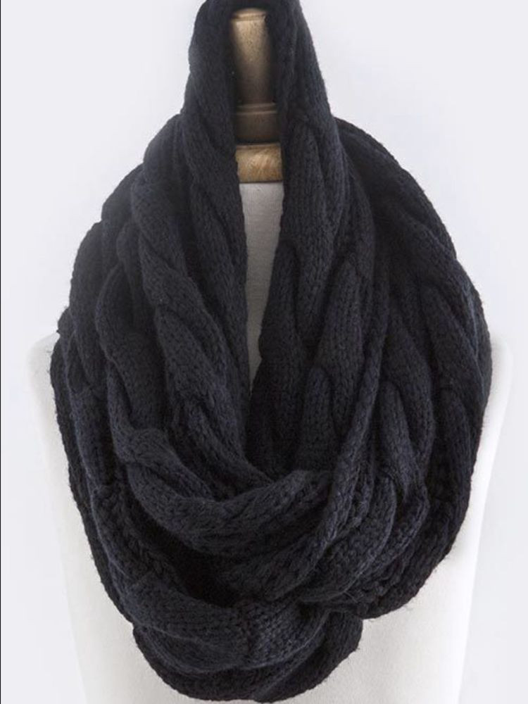 Awesome B167 Cable Knit Chunky Yarn Black Infinity Scarf Boutique Cable Knit Scarf Of Delightful 48 Ideas Cable Knit Scarf