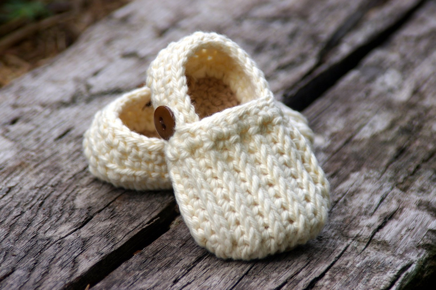 Baby Booties Crochet Pattern Easy Loafers Knit look