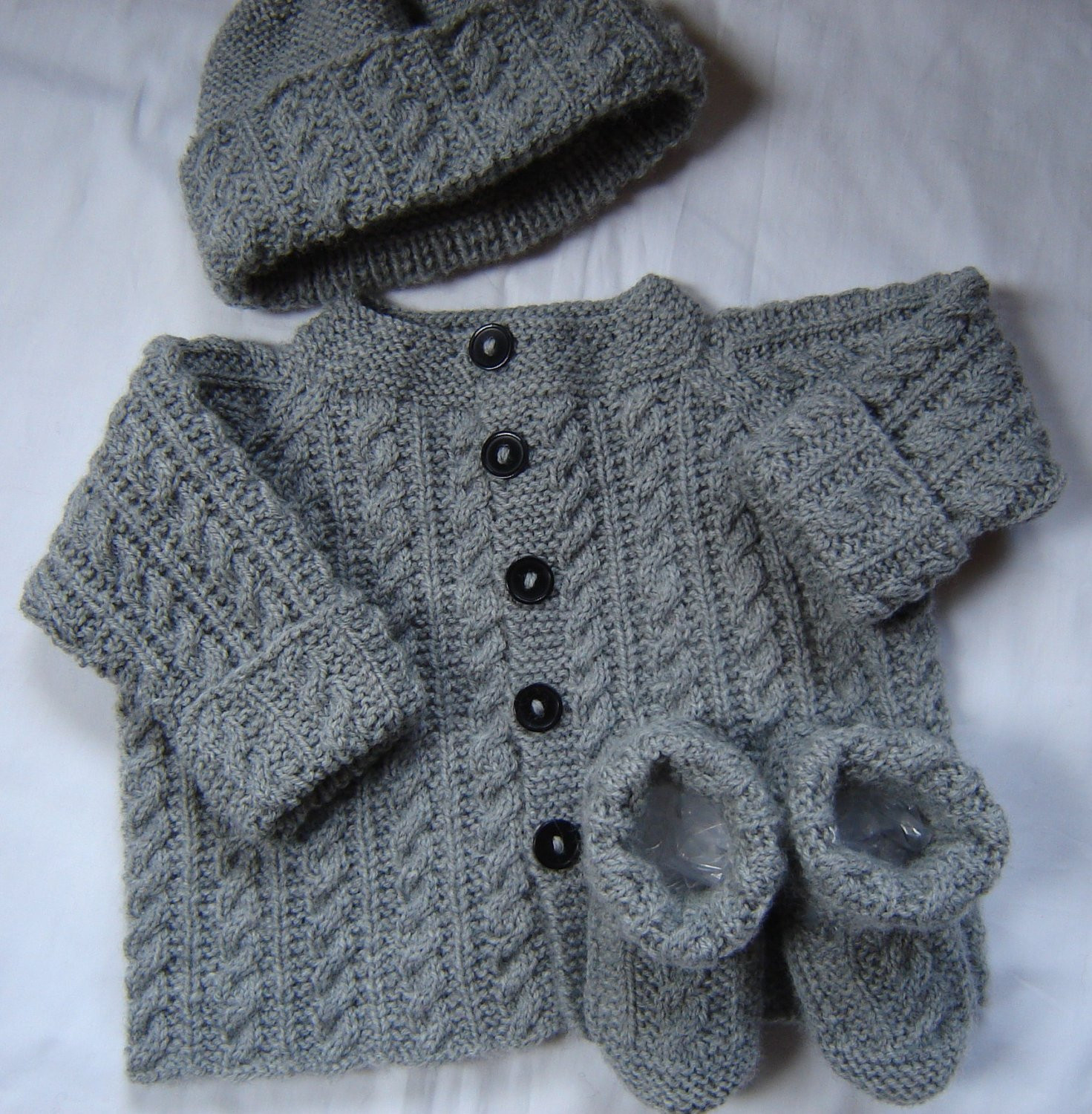 Awesome Baby Boy Sweater Set Hat Booties Hand Knit Gray Wool Size 3m Boys Knit Sweater Of Lovely 50 Models Boys Knit Sweater