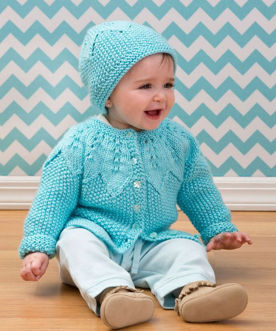 Baby cardigan Red heart yarn and Free knitting on Pinterest