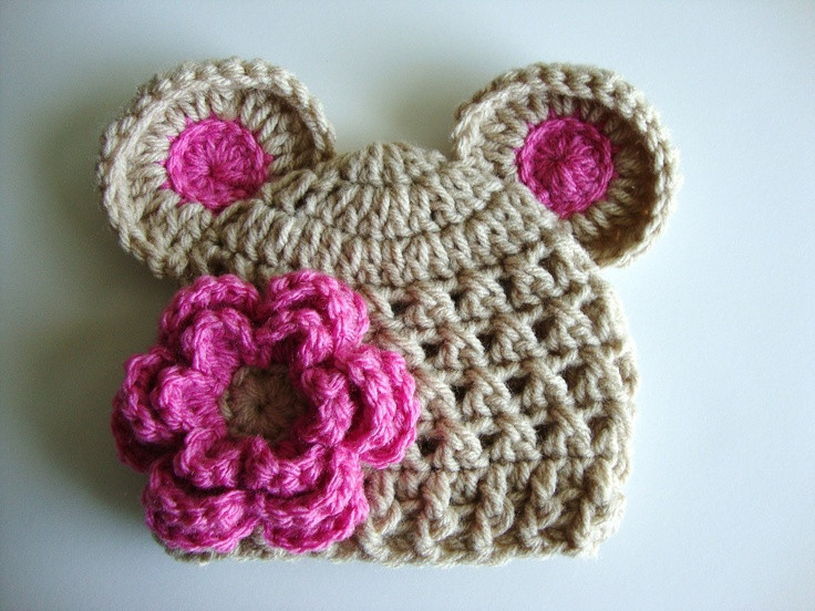 Awesome Baby Girl Crochet Hat Wih Ears and Flower by Crochet Baby Hat with Ears Of Lovely 43 Pics Crochet Baby Hat with Ears