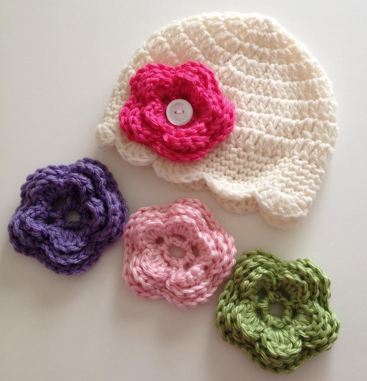 Awesome Baby Girl Crochet Hats with Flowers Free Patterns Crochet Flower for Hat Of Beautiful 45 Photos Crochet Flower for Hat