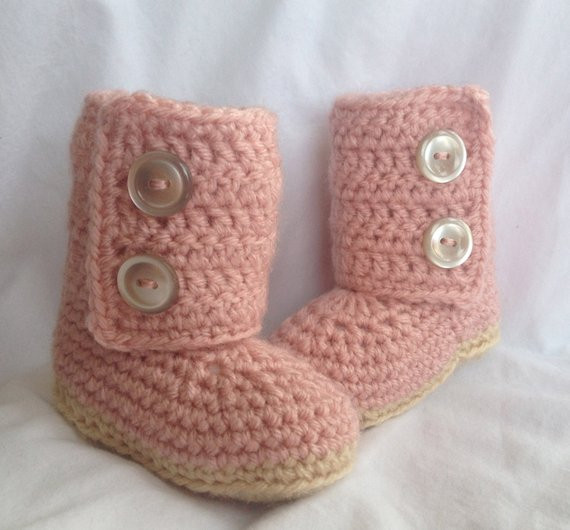 Awesome Baby Girl Crochet Ugg Baby Boots Pink Crochet Ugg Of New 40 Ideas Crochet Ugg