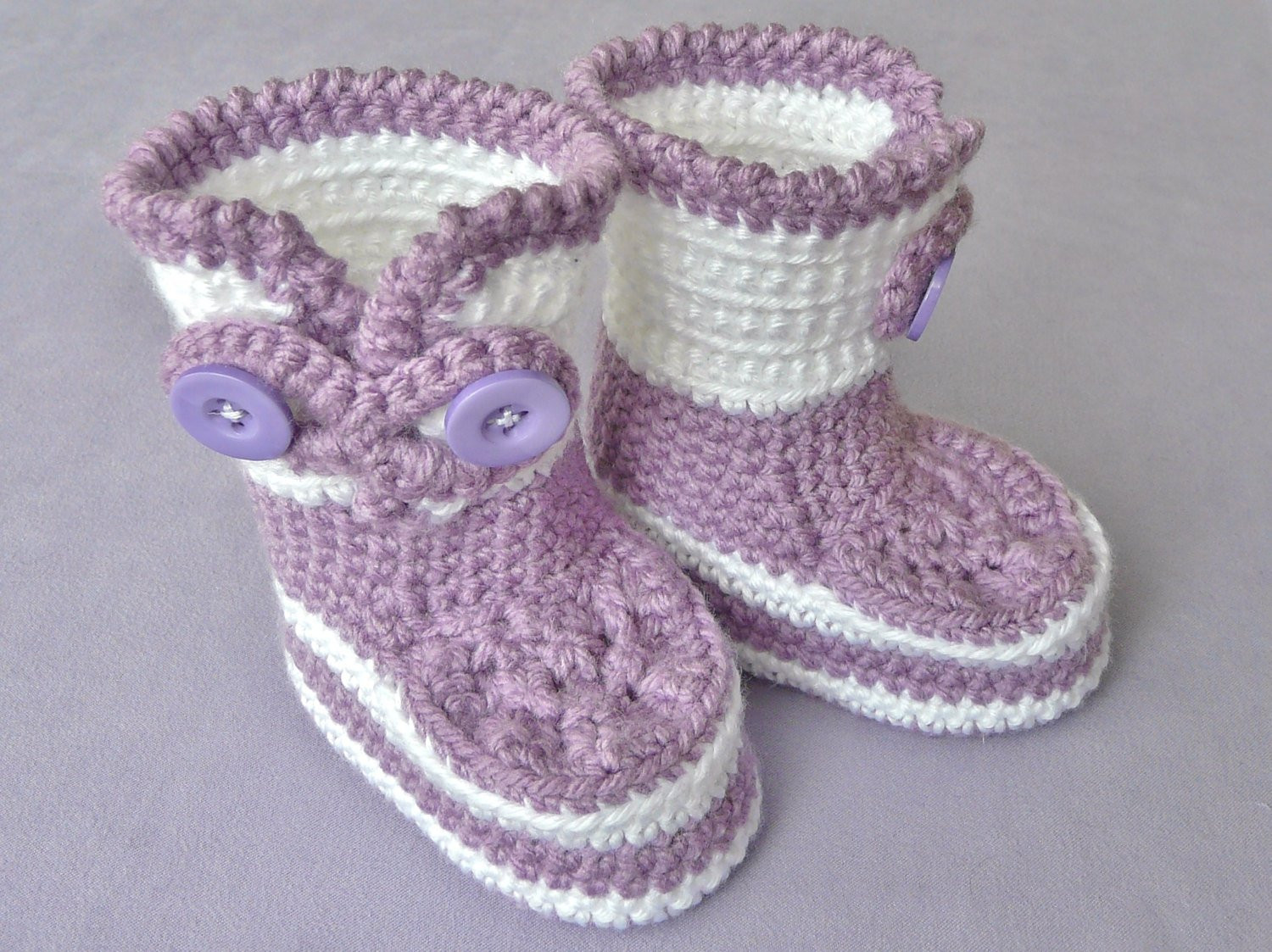 Baby girl crochet ugg style booties Infant by