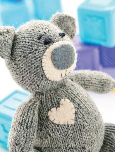 Baby Knitting Patterns Oliver the Teddy Free Knitting