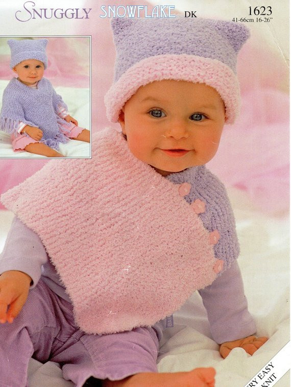 Awesome Baby Ponchos Knitting Pattern Childs Ponchos & Hats Chenille Baby Poncho Knitting Pattern Of Amazing 42 Pics Baby Poncho Knitting Pattern