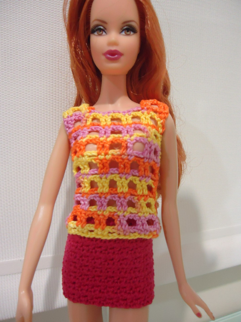 Awesome Barbie Lace Casual top and Mini Skirt Free Crochet Barbie Doll Patterns Of Superb 40 Pics Barbie Doll Patterns