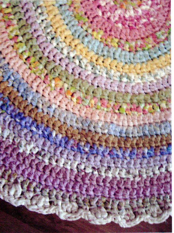 Awesome Basic Bands Hand Made Crocheted Rag Rug Hand Crochet Rug Of Contemporary 41 Models Hand Crochet Rug