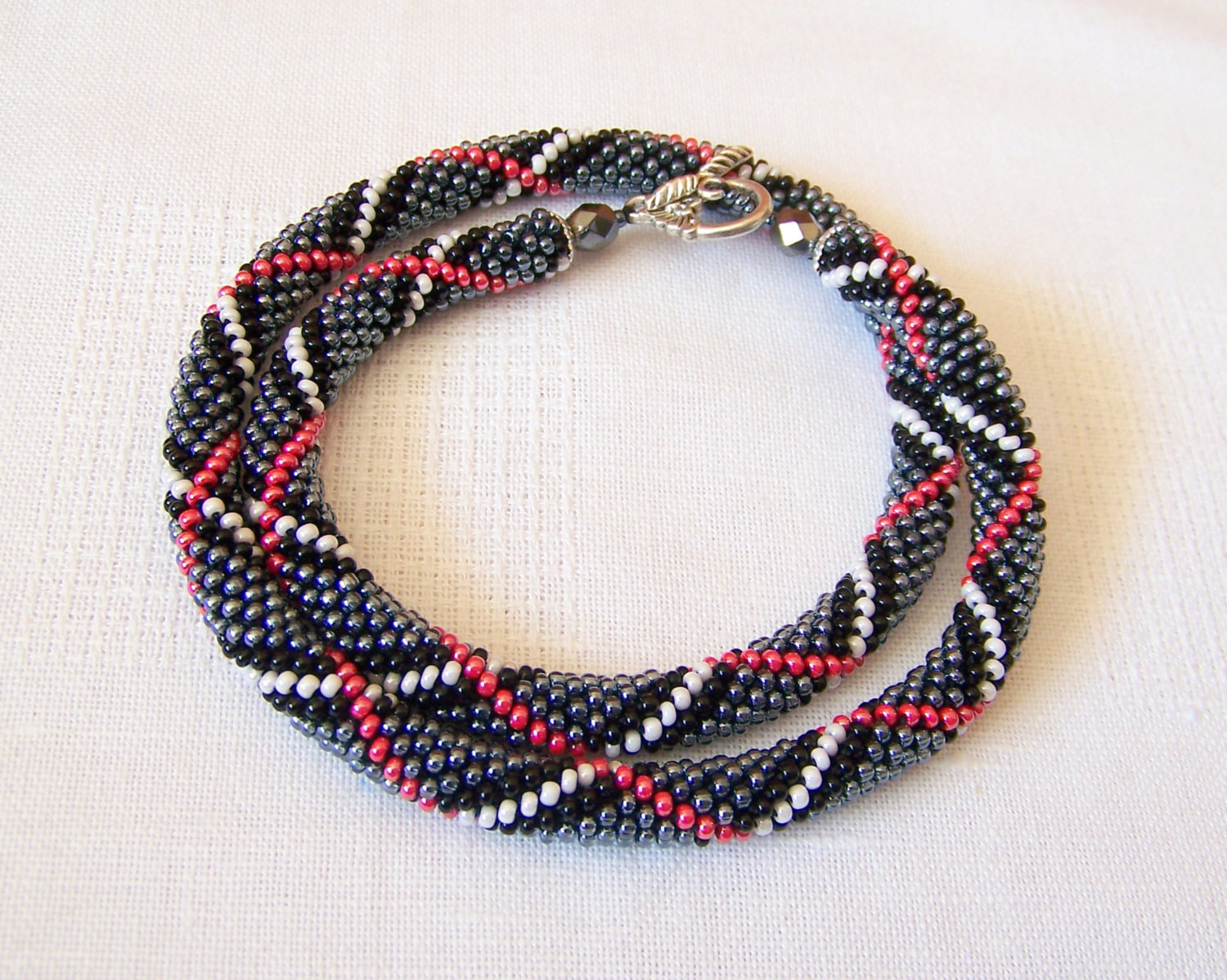 beads crochet ropes necklace beadwork