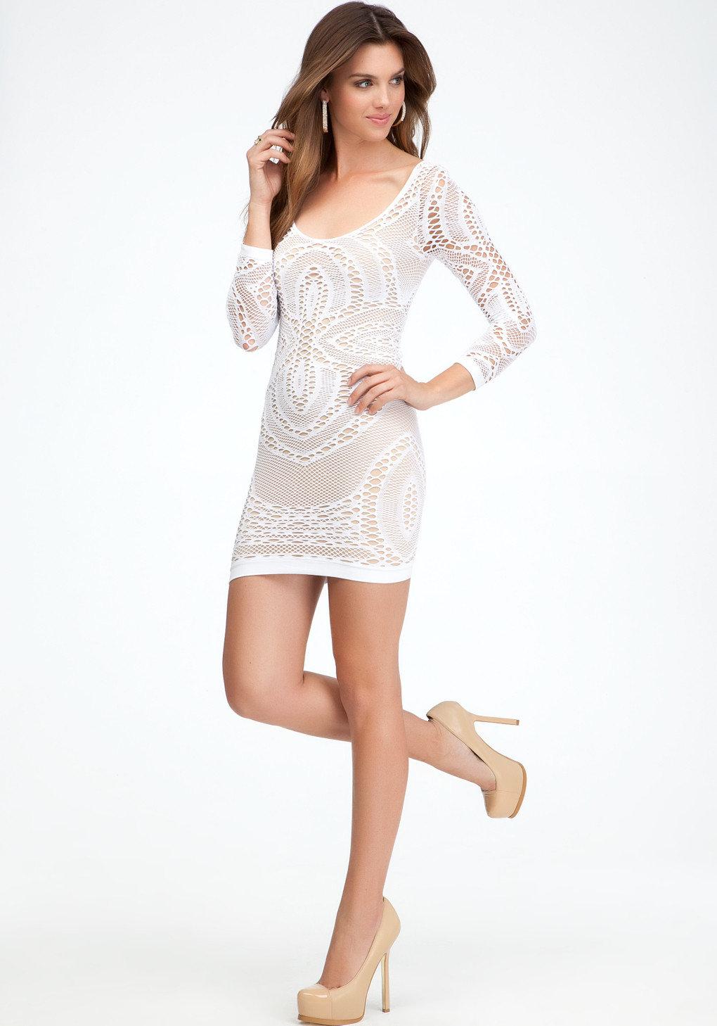 Awesome Bebe Crochet Lace Dress In White Lace Crochet Dress Of Incredible 42 Photos Lace Crochet Dress