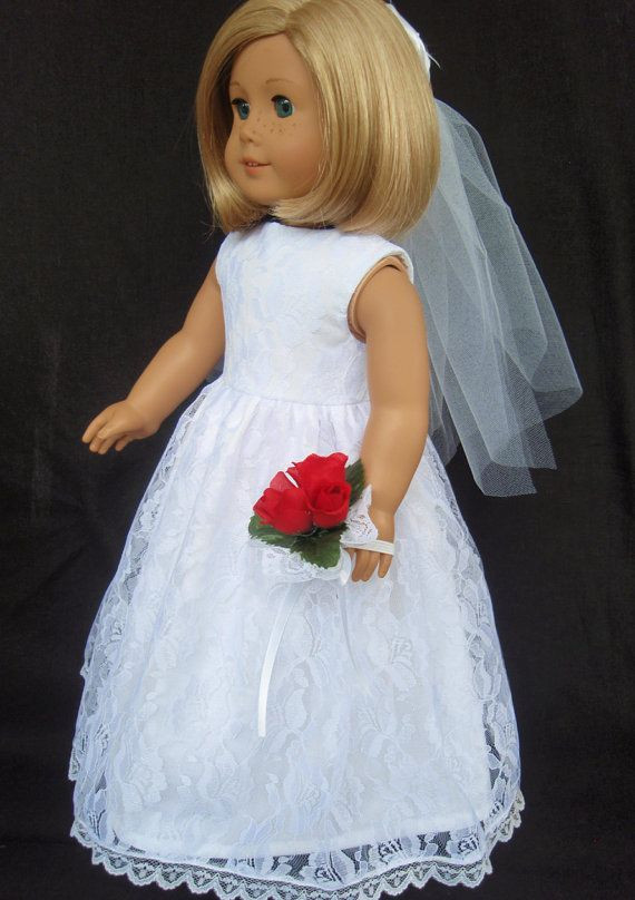 Awesome Best 25 American Girl Halloween Ideas On Pinterest American Girl Doll Wedding Dress Of Elegant Handmade 18 Doll Wedding Dress Five Piece by Creationsbynoveda American Girl Doll Wedding Dress