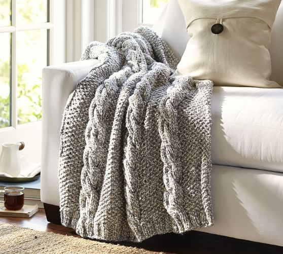 Awesome Bicolor Chunky Cable Handknit Throw Chunky Cable Knit Throw Of New 48 Images Chunky Cable Knit Throw