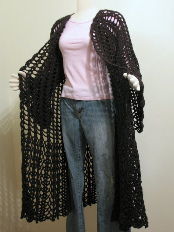 Awesome Black Crochet Long Sweater Crochet Long Cardigan Pattern Of Amazing 43 Pictures Crochet Long Cardigan Pattern