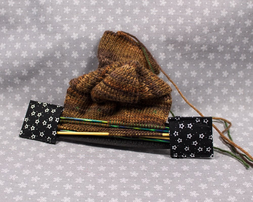 Black Double pointed Knitting Needle Holder with by