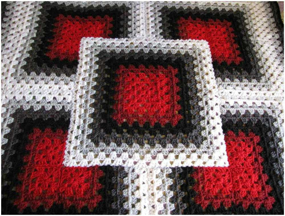 Awesome Black Red White Blanket Stitch [free Crochet] Square Crochet Stitch Of Lovely 49 Photos Square Crochet Stitch