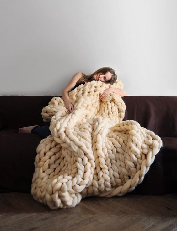 Awesome Blanket Grande Punto Chunky Knit Blanket Cozy Best Yarn for Chunky Blanket Of Contemporary 45 Images Best Yarn for Chunky Blanket